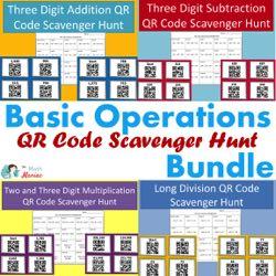 Basic Operations QR Code Scavenger Hunt Bundle