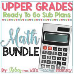 Upper Elementary Math Sub Plans Bundle
