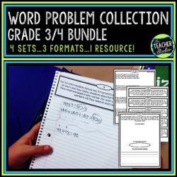 3rd-4th Grade Word Problem Bundle